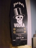 BLACK DEATH COFFIN WITH VODKA BOTTLE FULL AND SEALED