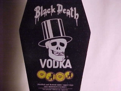 BLACK DEATH VODKA  50m/l.NO COFFIN