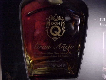 DON Q ANEJO RUM and GLASS ICE MOLD PUERTO RICAN