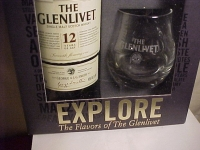 THE GLENLIVET 12YR SINGLE MALT WHISKEY and GLASSES